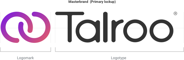 Talroo horizontal logomark and logotype lockup