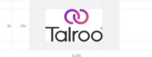 Talroo vertical logo lockup spacing