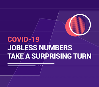COVID jobless numbers infographic.